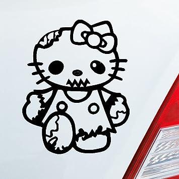 Auto Adhesivo En Tu Deseos Color Zombie Hello Kitty Gato Horror Dub