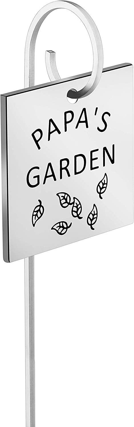 MAOFAED Metal Plant Label Garden Markers Father's Da Gift Garden Tags Garden Label Plants Marker Gift for Father
