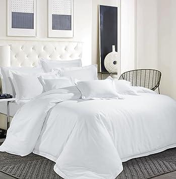 Bettwäsche Set ägyptische Baumwolle Fadendichte 600 Tc Hotel Weiß
