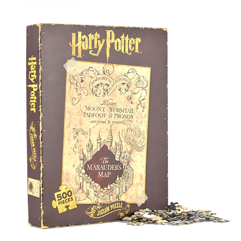 Harry Potter Karte des Rumtreibers Puzzles im 2er Set - Karte des Rumtreibers Puzzlespiel Marauder's Map Zauberei