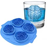 Halloween Brain Shape 3D Ice Silicone Mold Freeze Ice Cube Tray Cake Chocolate Soup Cream Mould