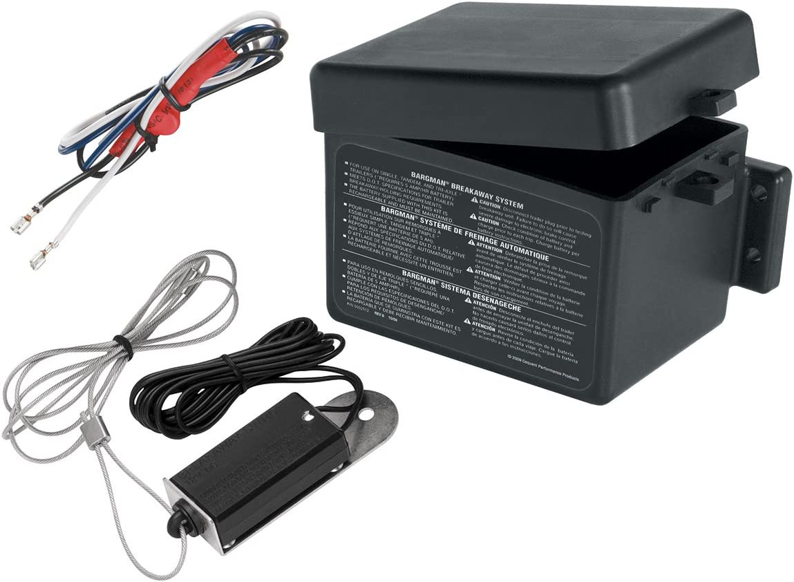 System with ABCD Charger for 1 to 3 Axle Trailers with Electric Brakes Fulton Bargman 50-85-312 Breakaway