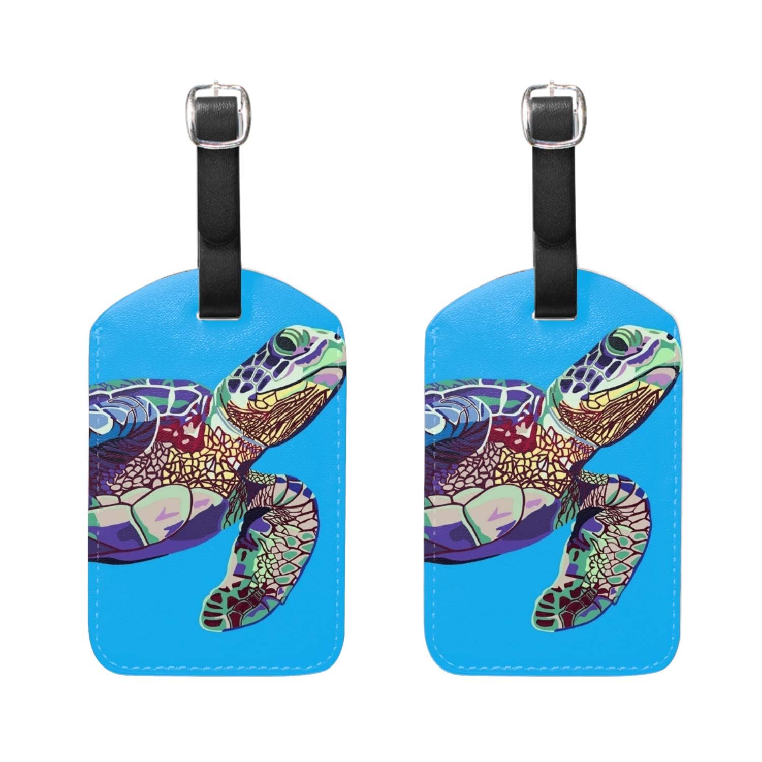 Amazing Galaxy PU Leather Luggage Tags Travel Bag Labels Suitcase Baggage 2PCS