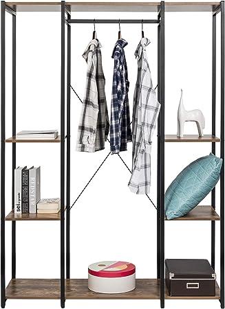Garderobe 12 Haken Kleiderständer Kleiderstange Garderobenständer Metall Ablage