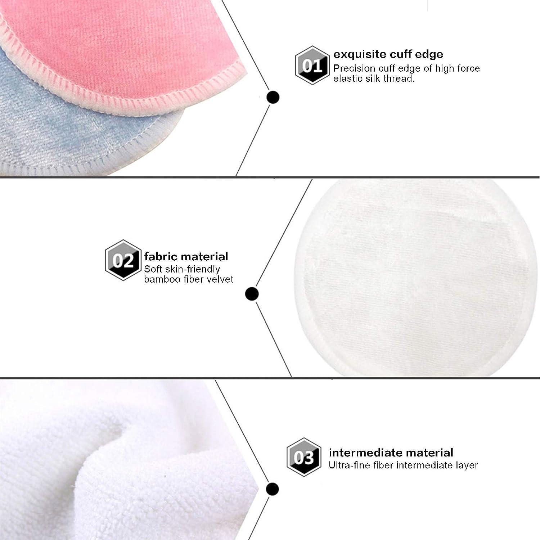 1pcs /Éponge de Maquillage Onlyoily Tampons D/émaquillants R/éutilisables,coton demaquillant bio lavable pour Nettoyage du visage Tampons En Coton Biologique Avec Sac /À Lessive