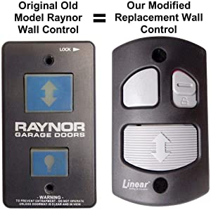 Raynor Old Model 6080336 Compatible Wall Control Custom Modified Linear HAE00001