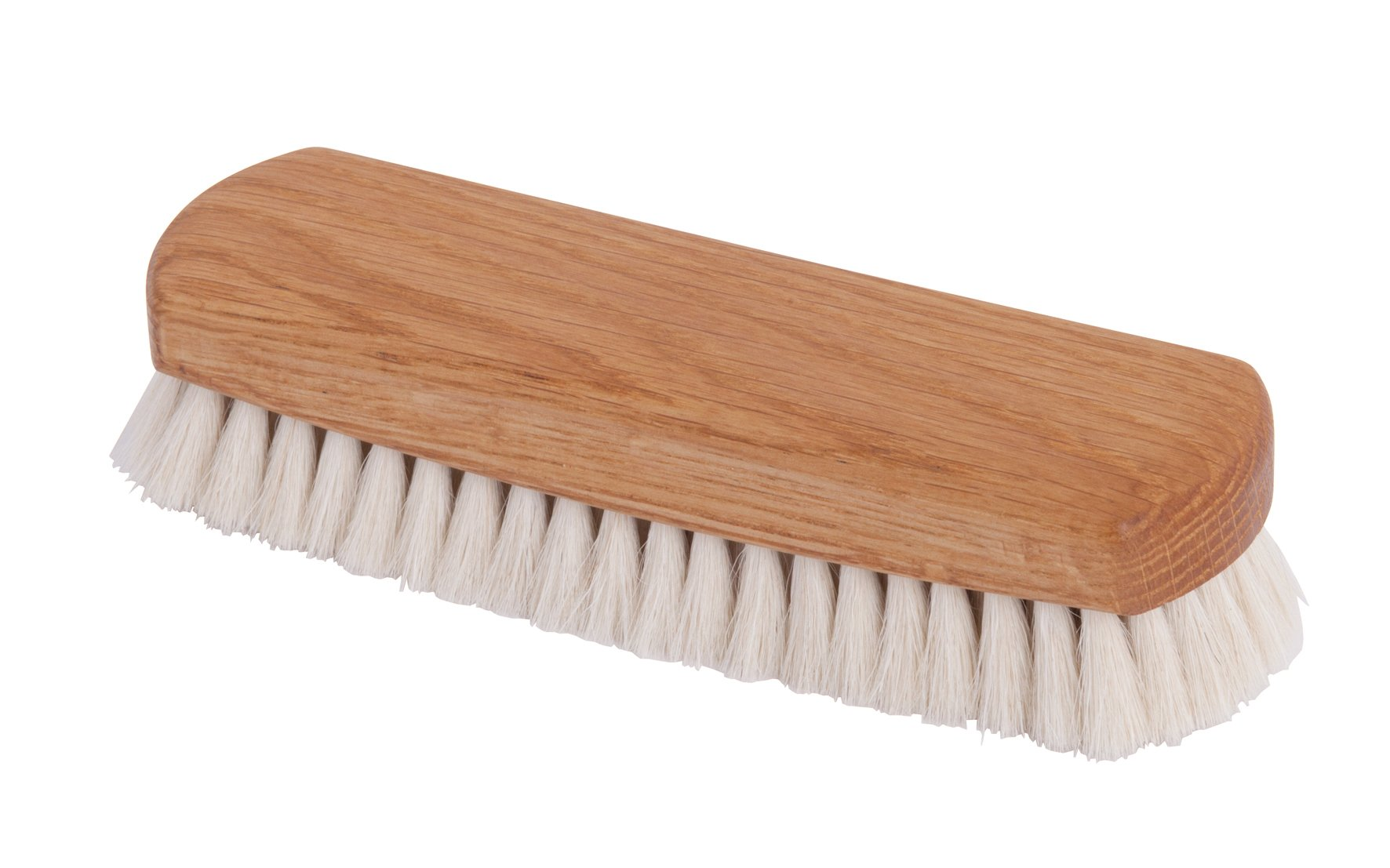 Redecker Goat Hair Shoe Shine Brush with Oiled Oakwood Handle, 6-1/4-Inches, Light