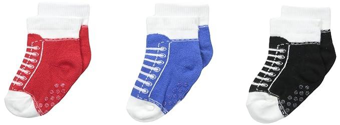 943971b9f2401 Jefferies Socks Baby-Boys Sneaker Non-Skid 3 Pair Pack, Multi, Newborn:  Amazon.in: Clothing & Accessories
