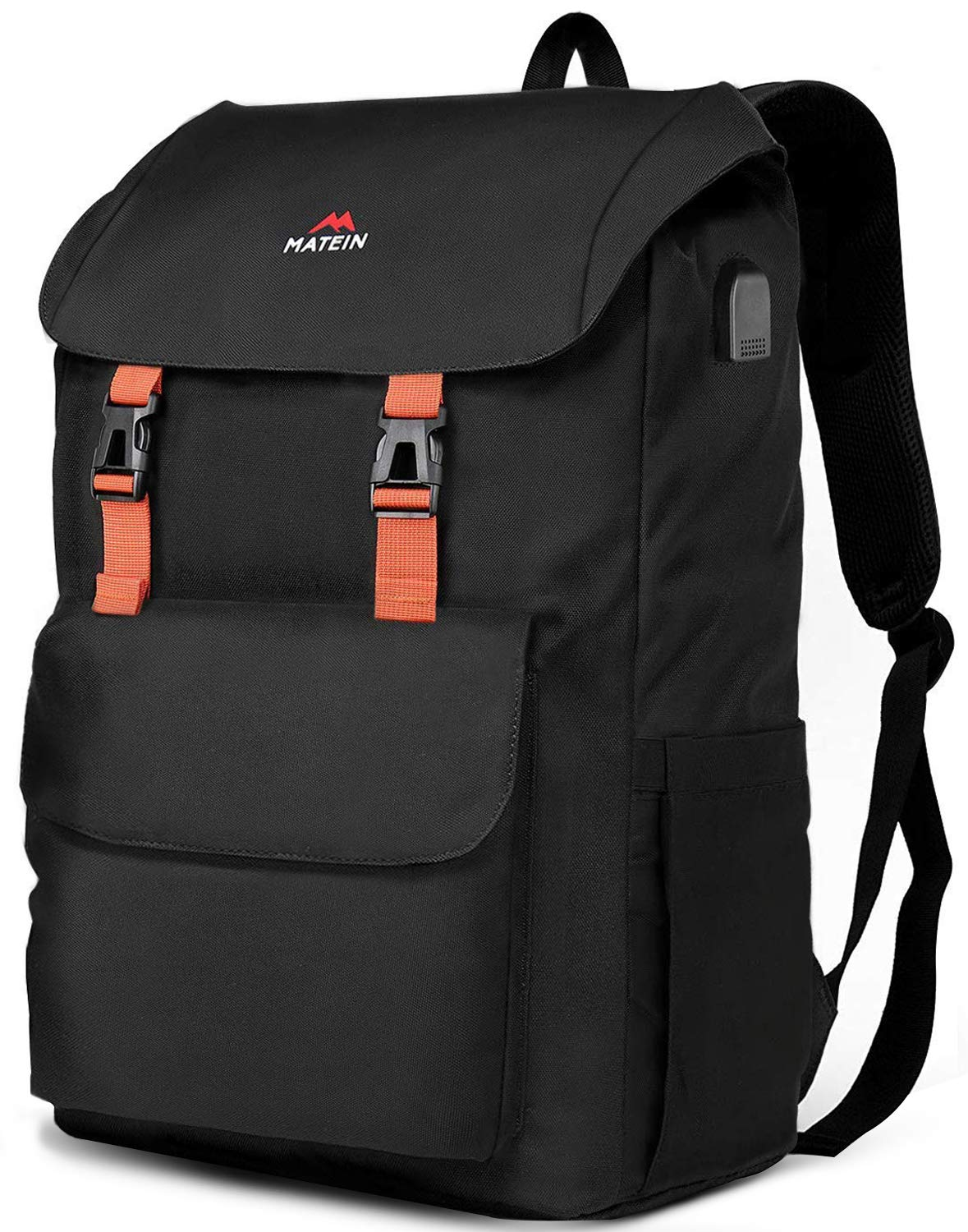 MATEIN 17 Inch Laptop Backpack, Large School Backpacks Waterproof College Bookbag for Men Women, Lightweight Travel Computer Bag with USB Charging Port, Durable Outdoor Rucksack fits 17 Inch Laptop by MATEIN