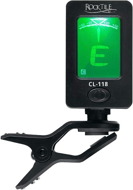 Rocktile CL-118 - Afinador digital con clip para guitarra, bajo ...