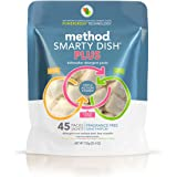 Method Naturally Derived Smarty Dish Plus Dishwashing Tablets, Fragrance Free, 45 Count, 25.4 Ounce