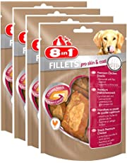 8in1 Fillets Pro Skin & Coat - Friandises au pilet pour chien - 80 g - lot de 4