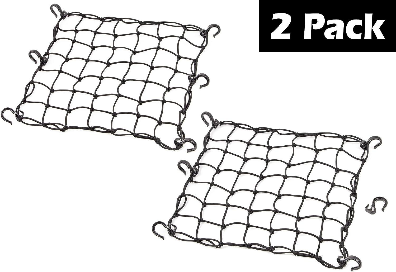 PowerTye Black Mesh Cargo Net (2 Pack)