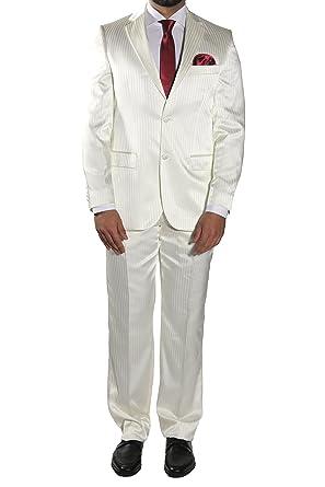 MUGA - Traje de boda - Rayas - Hombre beige 58: Amazon.es ...