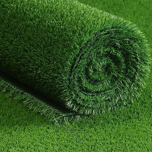 ZIYEYE 20mm Césped Artificial Realista Natural Natural Astro Verde Jardín de Césped, balcón Decoración Verde Plástico Césped Jardín de Fútbol de Kindergarten (Size : 2mx1m): Amazon.es: Hogar