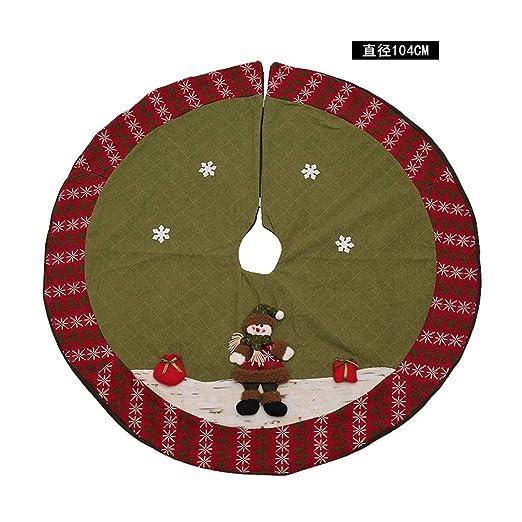 SDSQSCL Árbol De Navidad Falda Navidad Elementos Accesorios ...