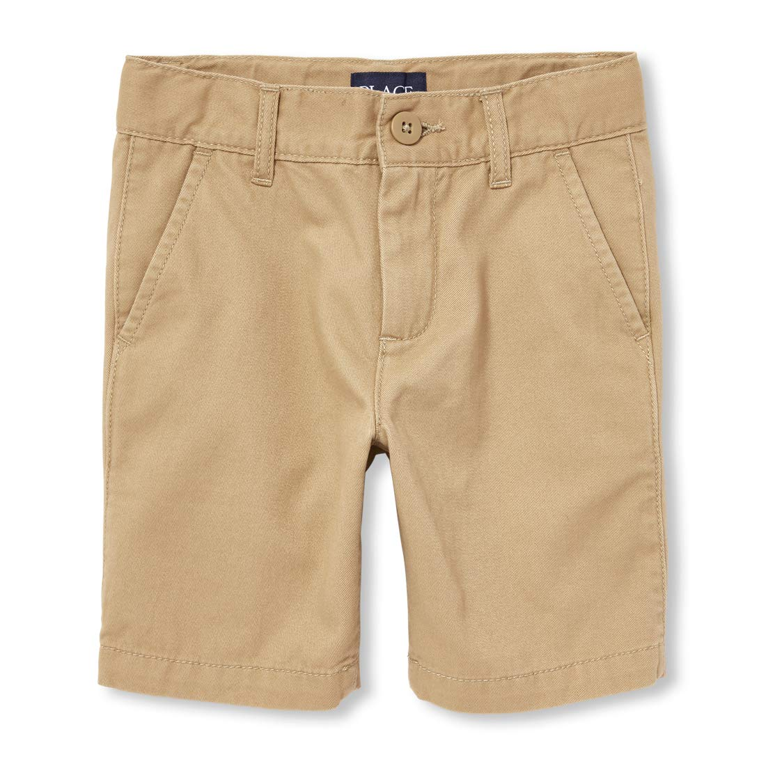 The Children's Place Boys' Big Uniform Chino Shorts, Flax 10