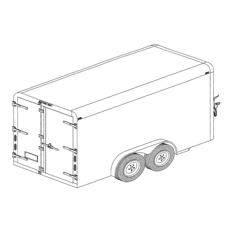 Covered Cargo Trailer Plans Blueprints (6' x 12' - Model 12CC) by Master Plan & Design
