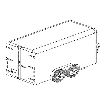 Amazoncom Covered Cargo Trailer Plans Blueprints 6 X 12 Model