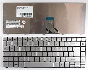 Keyboards4Laptops UK Layout Silver Laptop Keyboard Compatible with Gateway ID49, Gateway NSK-AV0PW