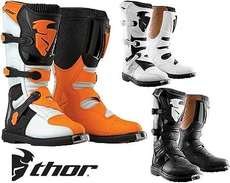 Stivali Moto Cross Enduro Quad Thor Blitz Bianco//Arancione