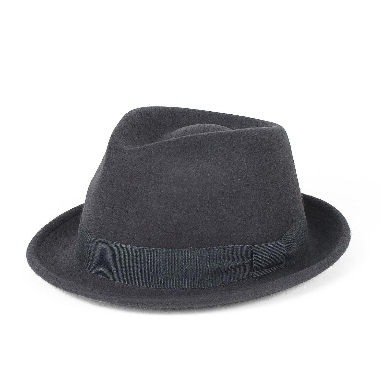 Cappello Trilby 100% Lana Impermeabile e Pieghevole, Fatto a Mano in Italia Hat To Socks