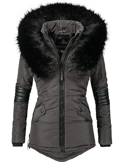 2c3e2575d Navahoo Nirvana Ladies' Winter Jacket with Black Faux Fur Hood 8 Colors  XS-XXL