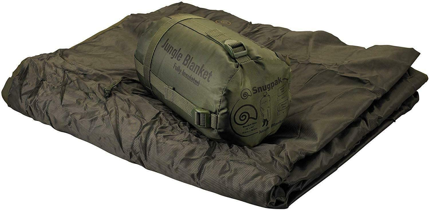 Black Snugpak Insulated Jungle Travel Blanket