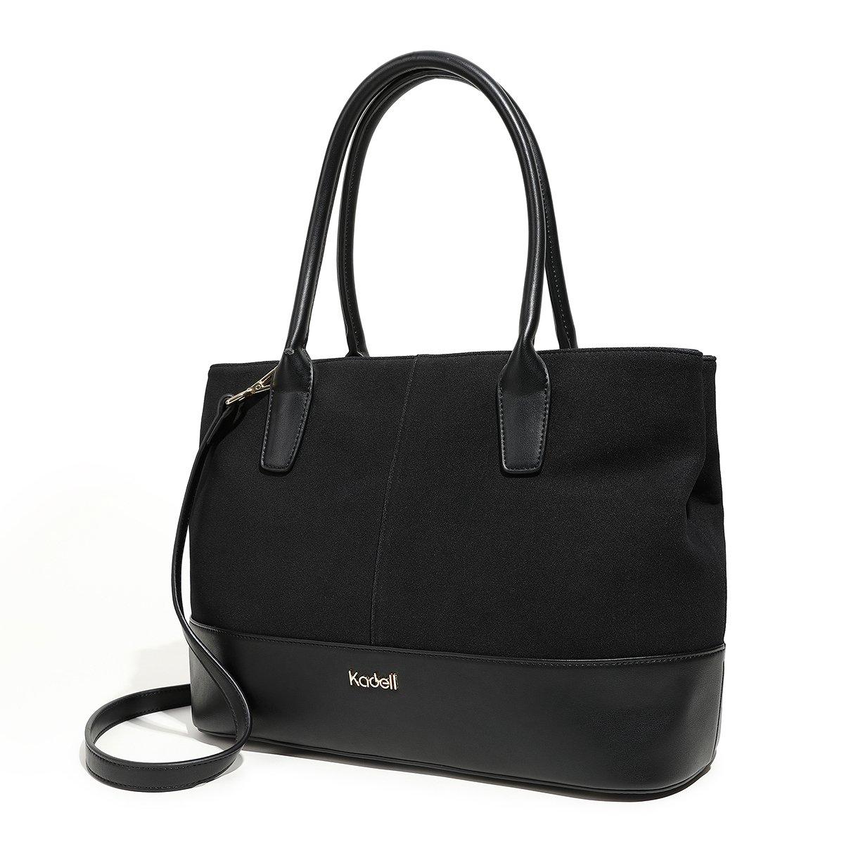 f7b50e0c117a Kadell Women s Handbag PU Leather Tote Bag Shoulder Satchel Purse for Ladies  Black  Handbags  Amazon.com