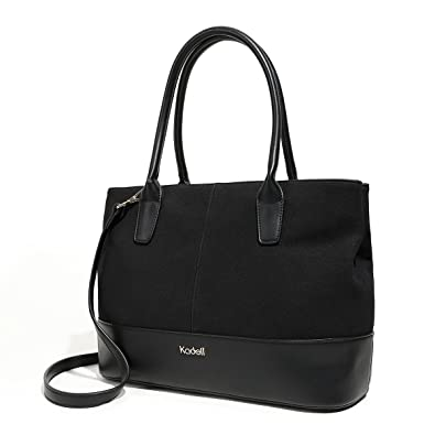 bfcc98e7484e Kadell Women s Handbag PU Leather Tote Bag Shoulder Satchel Purse for Ladies  Black