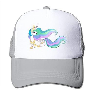 00654b0b54da50 Amazon.com: Unicorn Rainbow Hair Mesh Men Adjustable Trucker Classic ...