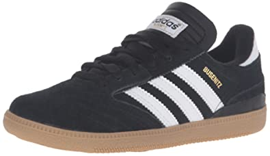 adidas Originals Unisex Busenitz Sneaker, Black/White/Gold Metallic, 5.5 M US