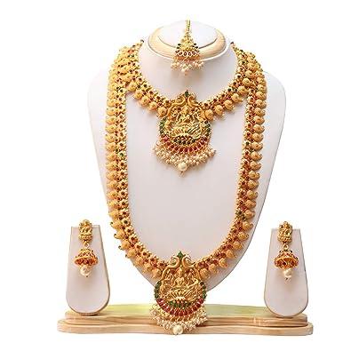 Buy Swarajshop Copper Gold-Plating Necklace Set for Women's