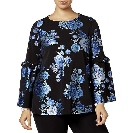 59b145c59c54c1 Alfani Plus Size Metallic Floral-Print Top at Amazon Women s Clothing store