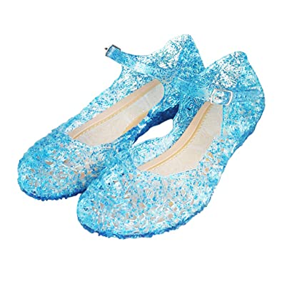 2c22a5876e825f Techcity Princess Girls Sandals Dress Up Dance Party Cosplay Jelly Shoes  for Kids Toddler Mary Janes