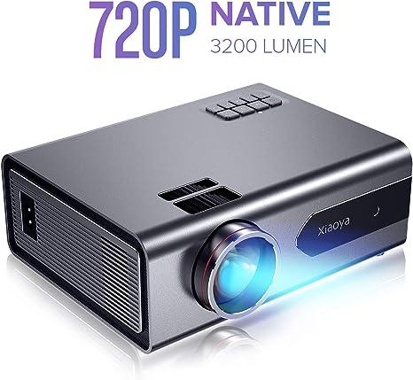 Amazon.com: Mini Proyector, XIAOYA T8 Proyector LED, gris ...