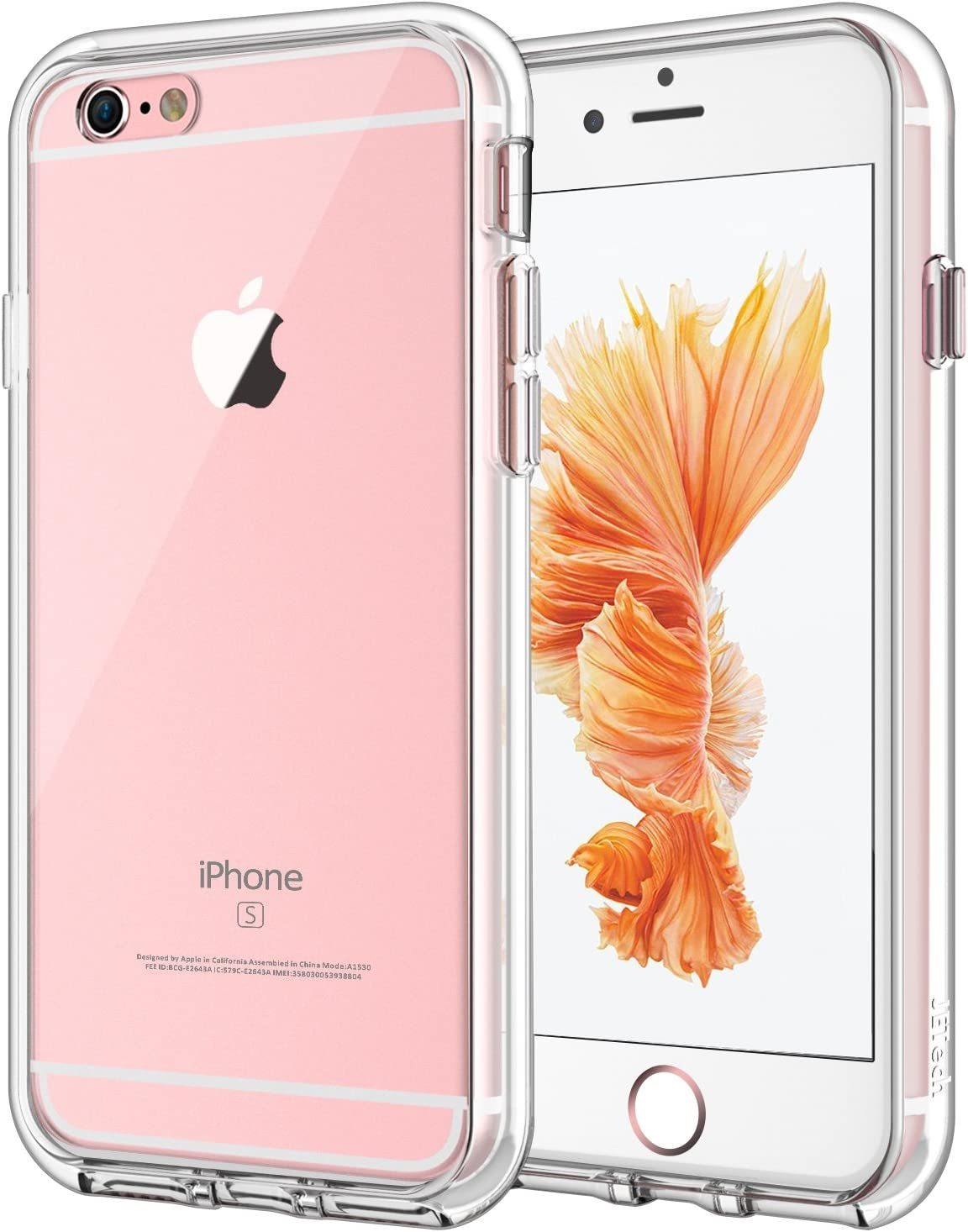 JETech Funda Compatible iPhone 6s y iPhone 6, Carcasa Anti-Choques y Anti-Arañazos, Transparente: Amazon.es: Electrónica