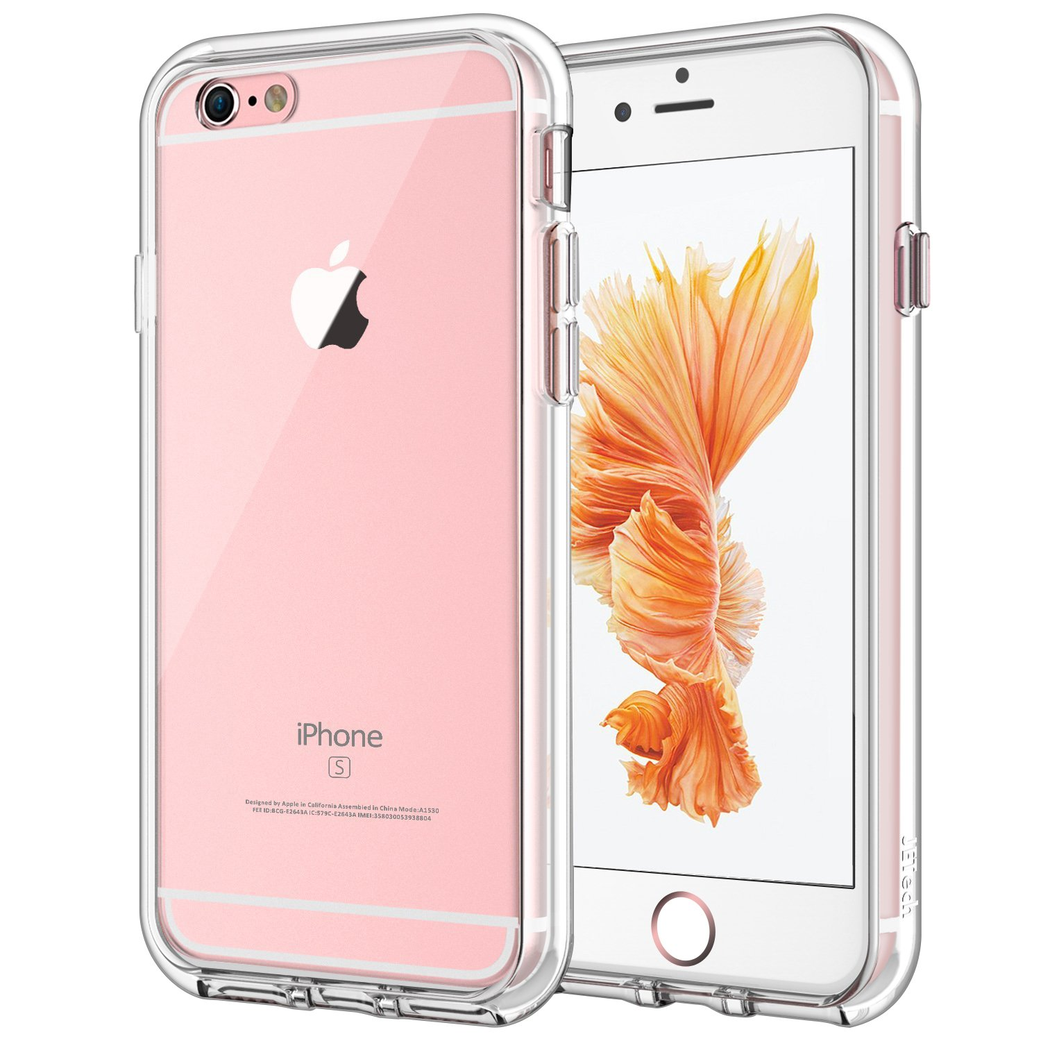 quality design 1b983 1cb71 JETech Case for Apple iPhone 6 Plus and iPhone 6s Plus 5.5-Inch,  Shock-Absorption Bumper Cover, Anti-Scratch Clear Back, HD Clear