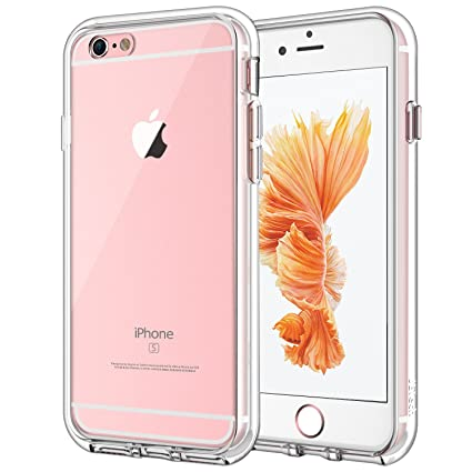 quality design db4be df13d JETech Case for Apple iPhone 6 Plus and iPhone 6s Plus 5.5-Inch,  Shock-Absorption Bumper Cover, Anti-Scratch Clear Back, HD Clear