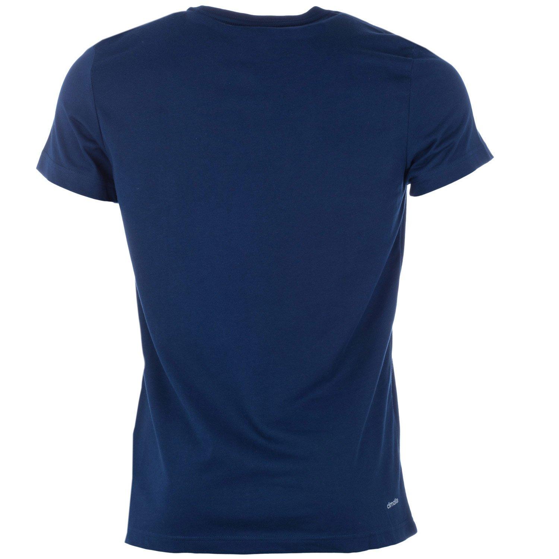 adidas Mens Sport Essentials Linear T-Shirt Navy
