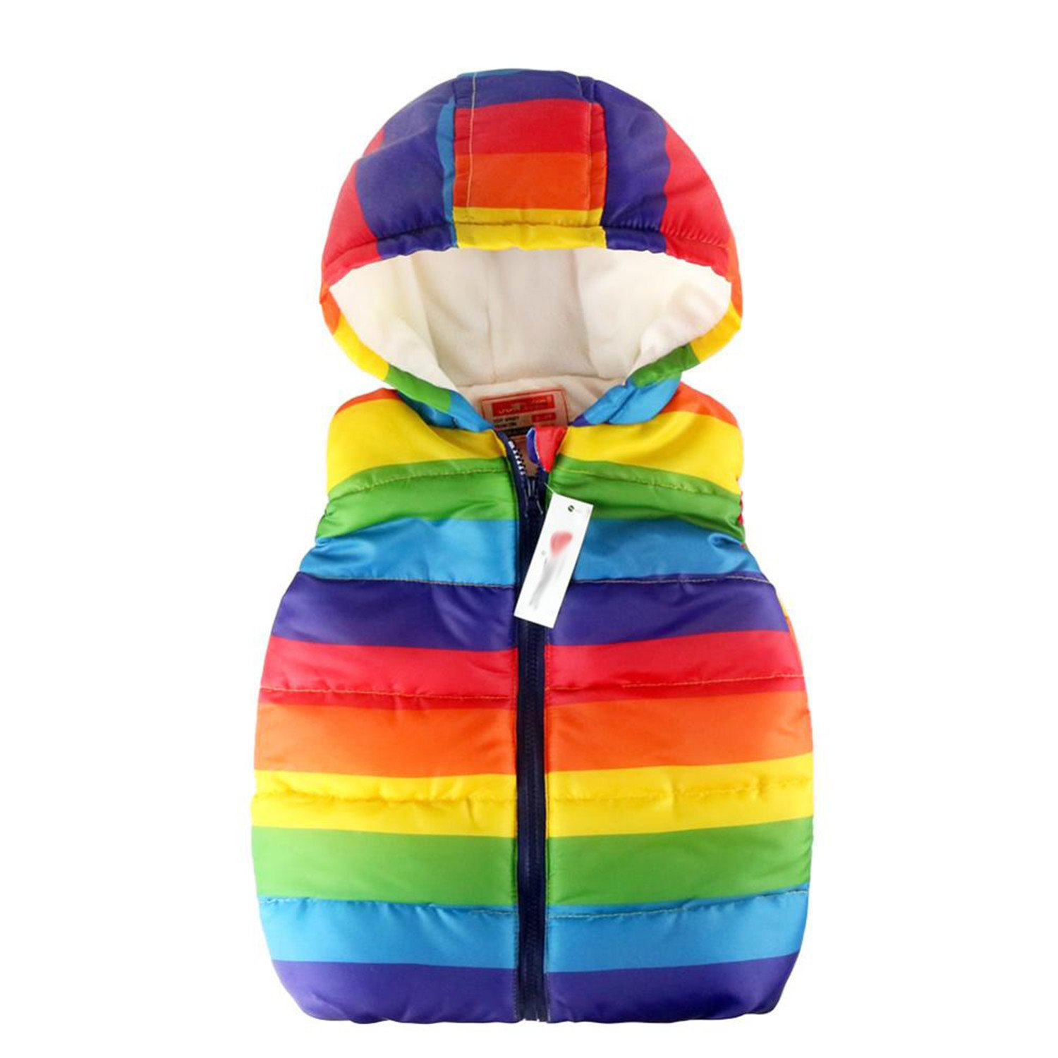 bfdd8c717 Amazon.com  Sonms Boy Vests Jacket Kids Rainbow Striped Children ...