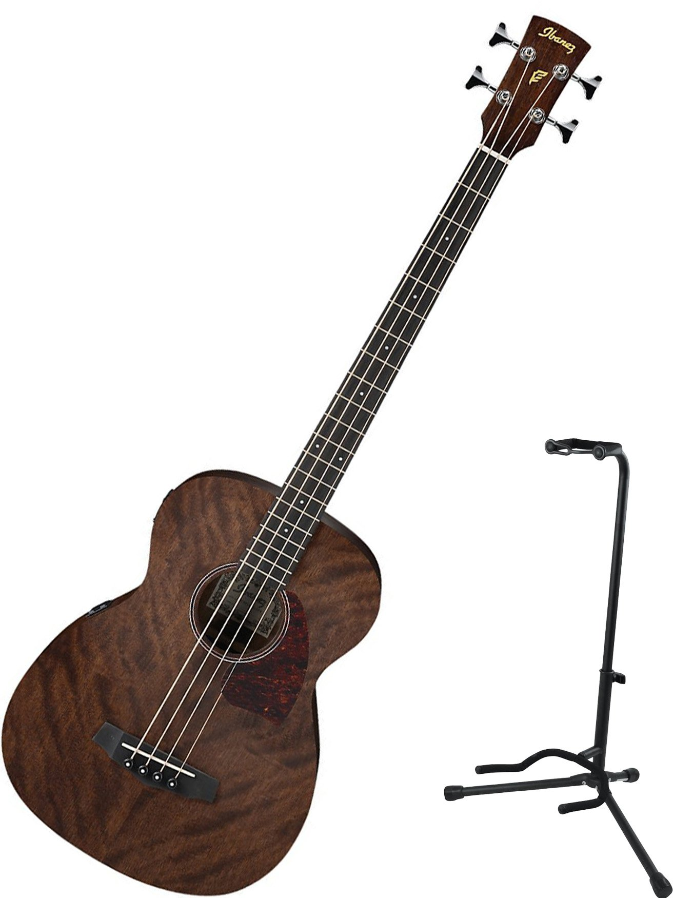 Ibanez PCBE12MH Acoustic Bass (Open Pore Natural) with Stand