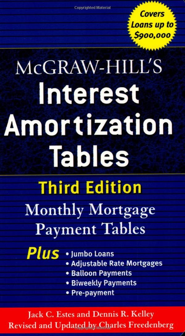 mcgraw hill s interest amortization tables third edition jack c