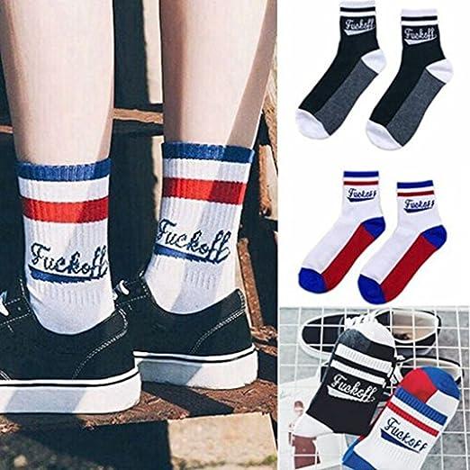 b934f26f0e7c2 Lovup New Fashion Fuck-off Funny Socks Casual Sport Hosiery Cotton Letter  Socks