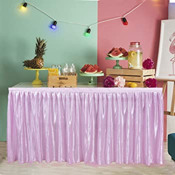 Amazon Com Hb Hbb Magic 9 Ft Pink Tulle Table Skirt For