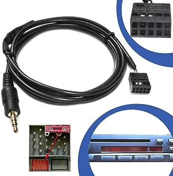 Kfz Auto Aux Line In Adapter Kabel 10 Pol Stecker Cd Radio Buchse Anschluss Kompatibel Mit Bmw E46 Auto