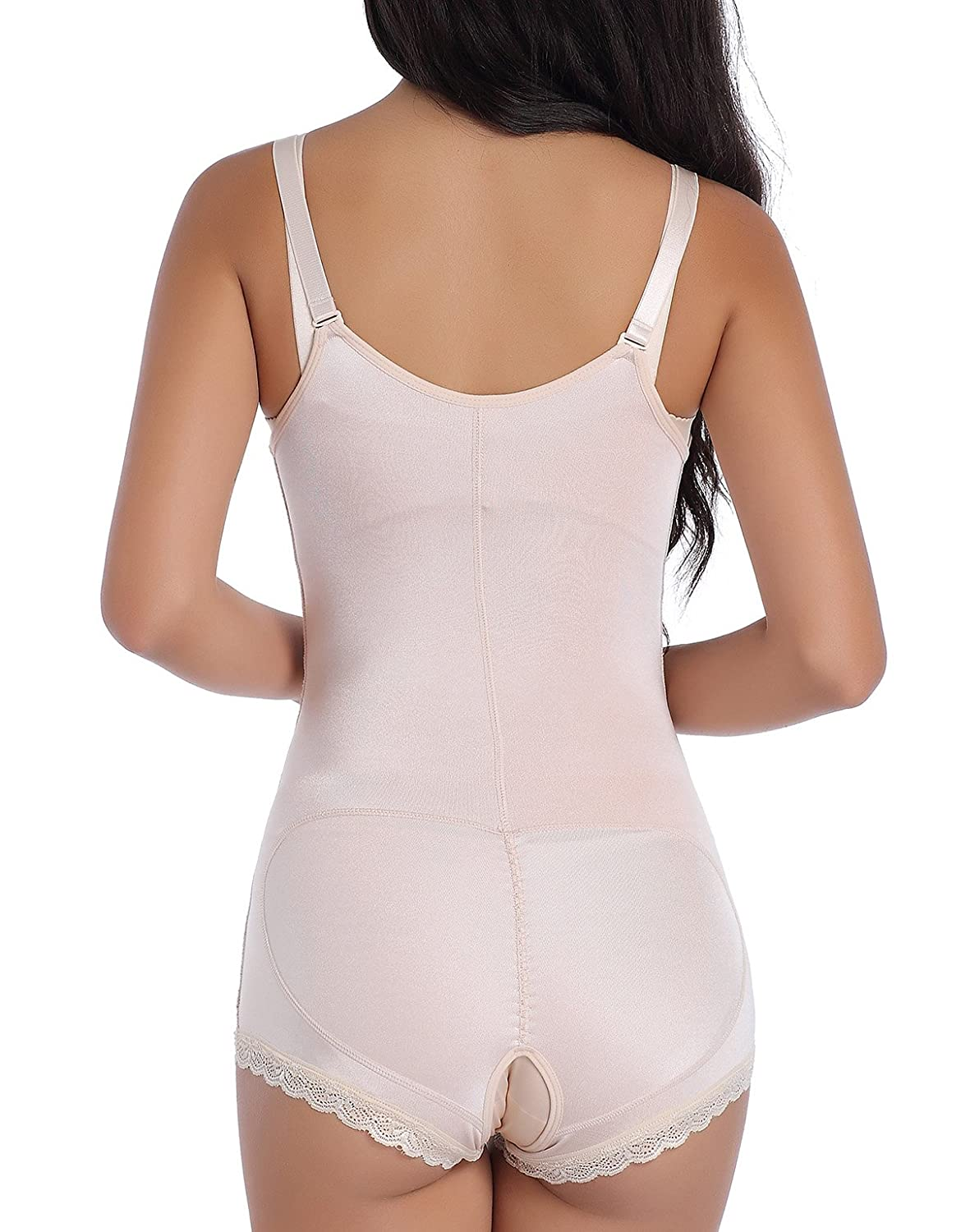 886f67a9183 EESIM Women s Firm Tummy Control Shapewear Body Shaper with Zipper  Bodysuits Open Bust Body Briefer Slimmer at Amazon Women s Clothing store