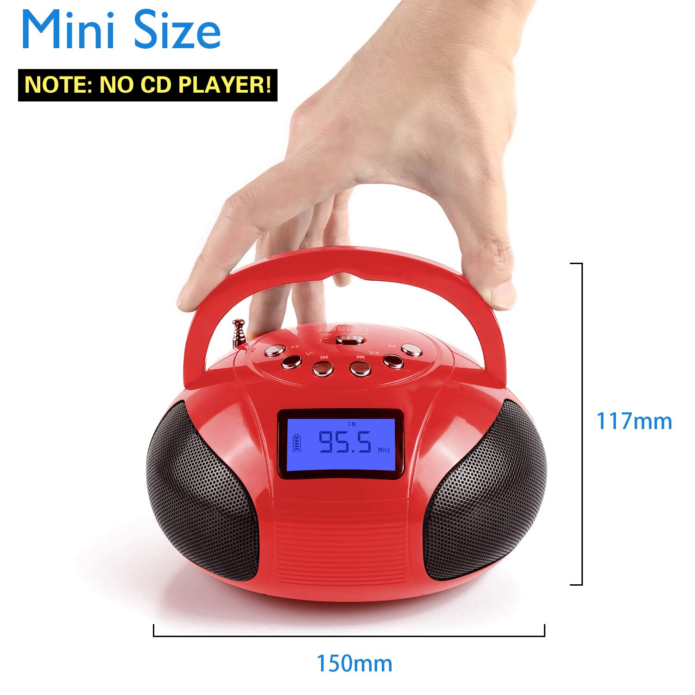Batterie Rechargeable Radio r/éveil Portable avec Haut-Parleur Bluetooth/August SE20/-/Mini syst/ème st/ér/éo MP3/avec Lecteur de Carte//USB et aux in//2/x 3/W Haut-parleurs st/ér/éo