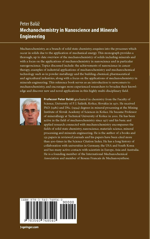 Mechanochemistry In Nanoscience And Minerals Engineering Amazon De Balaz Peter Fremdsprachige Bücher
