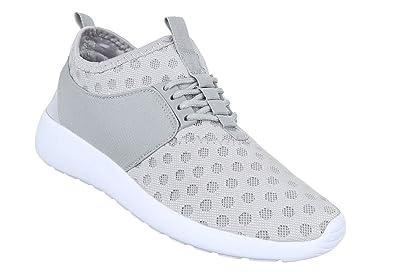 Damen Sneaker Schuhe Freizeitschuhe Schwarz Silber Weiszlig; 36 37 38 39 40 41